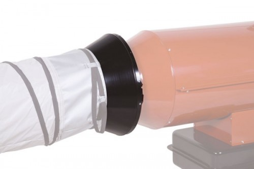 Luftleitblech mit 1 Abgang Ø 350 mm für EC 55