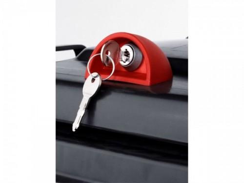Automatik-Kippschloss für Kunststoffbehälter inkl. 2 Schlüssel - montiert