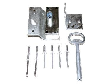 Dreikantschloss für Kunststoffbehälter inkl. 1 Schlüssel - lose geliefert