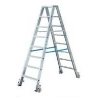 Stufen-Doppelleiter, fahrbar Alu Stabilo® Professional 2 x 3 Stufen