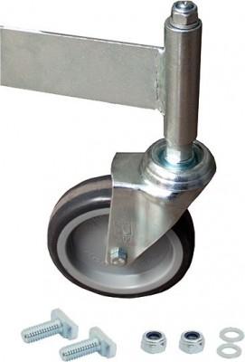 Stabilo® Fahrrolle für Podestleiter, ungebremst, Ø 125 mm - für 5 bis 6 Stufen