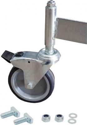 Stabilo® Fahrrolle für Podestleiter, gebremst, Ø 125 mm - für 7 Stufen