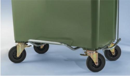 Fusspedal für 770 Liter Kunststoffcontainer - montiert