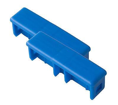 Kopfstopfen (5 Paar) für Profileiter, Blau - 64 x 25 mm Krause