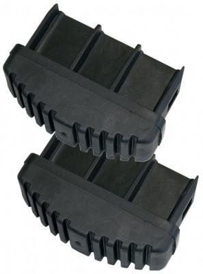 Ableitfähige Fussstopfen (2 Paar) für Profileiter, Schwarz - 64 x 25 mm Krause