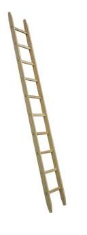 Holz-Anlegeleiter Typ 480 - 10 Sprossen / Länge 3.30 m