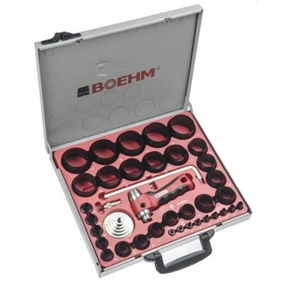 BOEHM JLB259PACC Locheisensatz im Metallkoffer Ø 2-59 mm