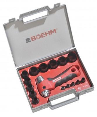BOEHM JLB229PA Locheisensatz Ø 2-29 mm im Kunststoffkoffer