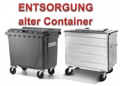 Entsorgung alter Kunststoff-/Stahlcontainer