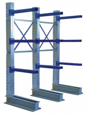 Aktions-Kragarmregal einseitig Typ LE HxLxT 2455x2000x800 mm - 4 Ebenen