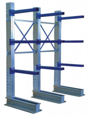 Aktions-Kragarmregal einseitig Typ CL HxLxT 2455x2000x800 mm - 4 Ebenen