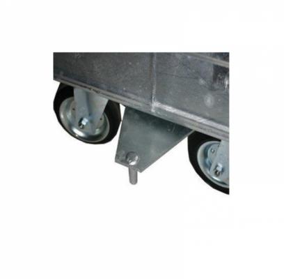 Kupplungs-Hinteranschluss für 800 Liter Stahlcontainer - montiert