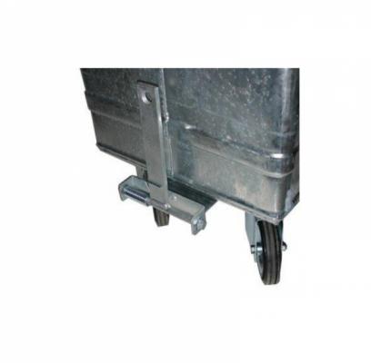 Kupplungs-Vorderanschluss für 800 Liter Stahlcontainer - montiert