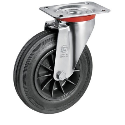 Lenkrolle Rad-Ø 200mm mit Kunststofffelge für 600 bis 1100 Liter Container