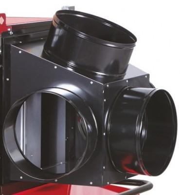 Luftleitblech mit 4 Abgängen-Ø 350mm für Jumbo 145