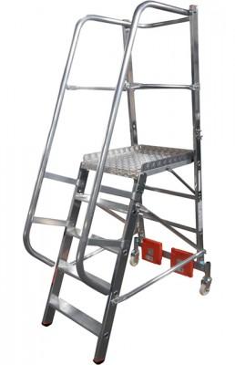 Stabilo® Podestleiter Vario, einseitig begehbar - Aufstellbreite 0.82 m - Arbeitshöhe 3.10 m - 1 x 5 Stufen