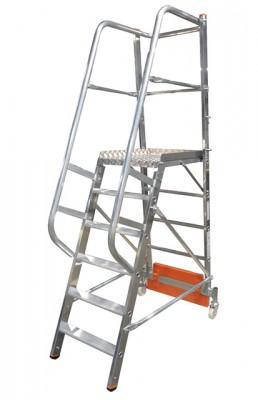 Stabilo® Podestleiter Vario, einseitig begehbar - Aufstellbreite 0.82 m - Arbeitshöhe 3.40 m - 1 x 6 Stufen