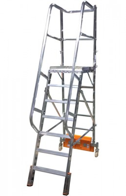 Stabilo® Podestleiter Vario, einseitig begehbar - Aufstellbreite 0.82 m - Arbeitshöhe 3.65 m - 1 x 7 Stufen