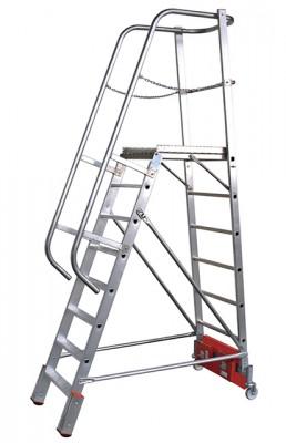 Stabilo® Podestleiter Vario, einseitig begehbar - Aufstellbreite 0.82 m - Arbeitshöhe 3.90 m - 1 x 8 Stufen