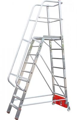 Stabilo® Podestleiter Vario, einseitig begehbar - Aufstellbreite 0.82 m - Arbeitshöhe 4.10 m - 1 x 9 Stufen