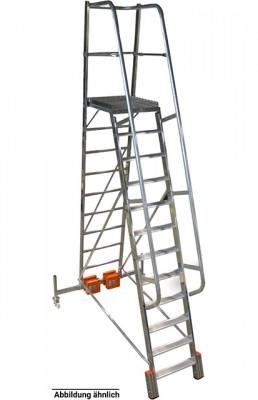 Stabilo® Podestleiter Vario, einseitig begehbar - Aufstellbreite 1.44 m - Arbeitshöhe 4.10 m - 1 x 9 Stufen