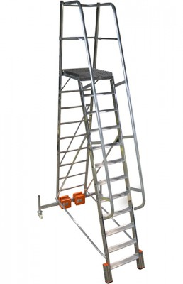 Stabilo® Podestleiter Vario, einseitig begehbar - Aufstellbreite 1.44 m - Arbeitshöhe 4.75 m - 1 x 12 Stufen