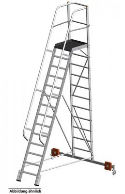 Stabilo® Podestleiter Vario, einseitig begehbar - Aufstellbreite 2.07 m - Arbeitshöhe 4.75 m - 1 x 12 Stufen
