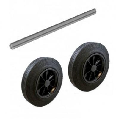Stahlachse und Rädersatz für 120 & 140 Liter Kunststoffbehälter - lose geliefert