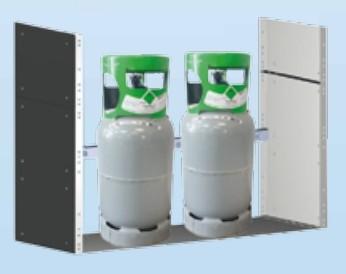 EcoSystem - KMR 1036 / KR 103 C Regal für Kältemittel und Gasflaschen