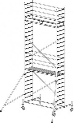 FahrGerüst Serie 10 - Arbeitshöhe bis 7.40 / Feldlänge 2.50 m