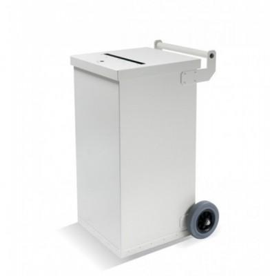 140 Liter Sicherheitsbehälter mit Einwurfschlitz - Aluminium pulverbeschichtet