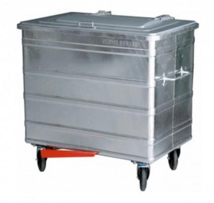 800 Liter Standard Stahlcontainer mit Fusspedal für handfreies Deckelöffnen
