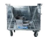 800 Liter Standard Stahlcontainer für Papier/Karton mit V-Öffnung (ohne Deckel)