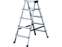 Stufen-Doppelleiter Aluminium  vernietet, 2 x 3 Stufen