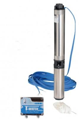 T-Water TW SUB 50/11 M + SP Tiefbrunnenpumpe - 4800 l/h - 6.4 bar - 230 V