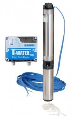 T-Water TW SUB 50/11 T + SP Tiefbrunnenpumpe - 4800 l/h - 6.4 bar - 400 V