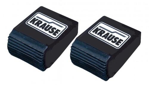 Ableitfähige Traversenfusskappen (2Stk.) für Stabilo Profileiter, Schwarz - 64 x 25 mm Krause