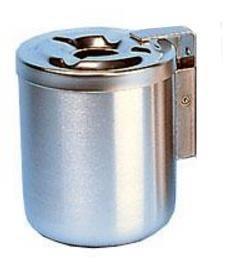 Egro 2 Wandascher mit Sicherheitsfeder - Stahl rostfrei