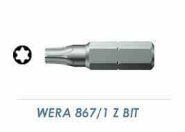 Bits-Torx® 867/1Z-TX 10 x 25 mm - VE= 10 Stück - WERA