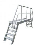 Überstieg, Leichtmetall - 4 Stufen 800 mm, Neigung 45°