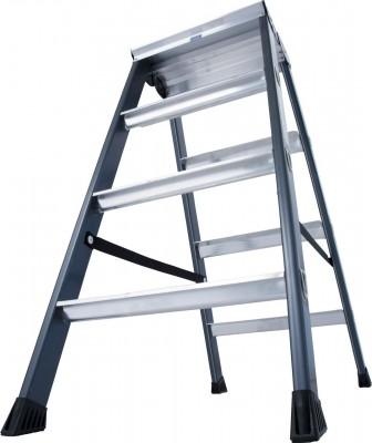 Monto® Stufen-Doppelleiter eloxiert 2 x 4 Stufen, SePro D®