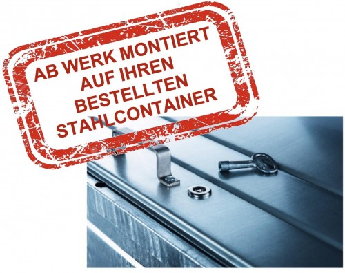 Dreikantschloss für Stahlcontainer inkl. 1 Schlüssel - montiert