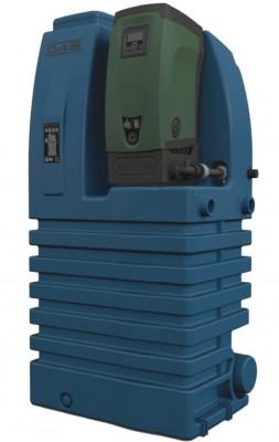 DAB E.sytank Kategorie 5, Typ AB doppelter Überlauf, 500 Liter Behälter + E.sybox Hauswasserautomat