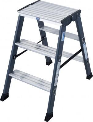 Monto® Stufen-Doppelleiter eloxiert 2 x 3 Stufen, SePro D®
