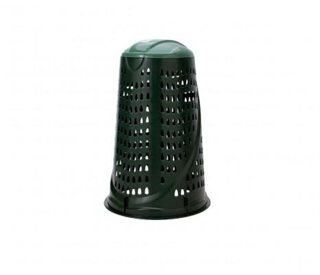 Kehrichtsackhalter mit Klappdeckel - Kunststoff grün