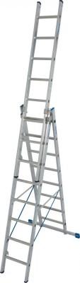 Stabilo® Sprossen-Vielzweckleiter, treppengängig - Aluminium, 3-teilig - Arbeitshöhe 6.05 m - 3 x 8 Sprossen