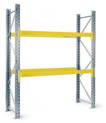 Palettengrundregal S-SB HxLxT 3000x1800x1000 mm Rahmenlast 11.100kg 2 Ebenen + Boden