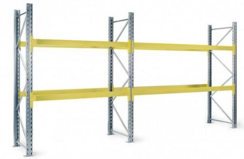 Aktions-Palettenregal S-SB Grund- und Anbauregal HxLxT 2500x(2700)5400x1000 mm