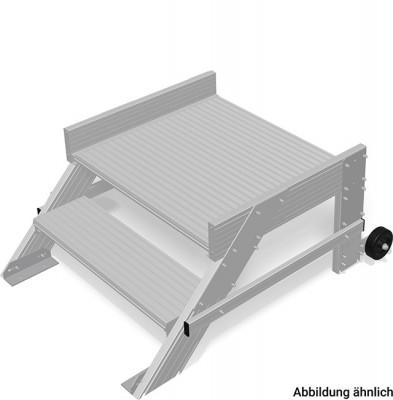 Stabilo® Podest-Treppe fahrbar - Neigung 45° - Stufenbreite 60 cm - Arbeitshöhe 2.40 m - 1 x 2 Stufen