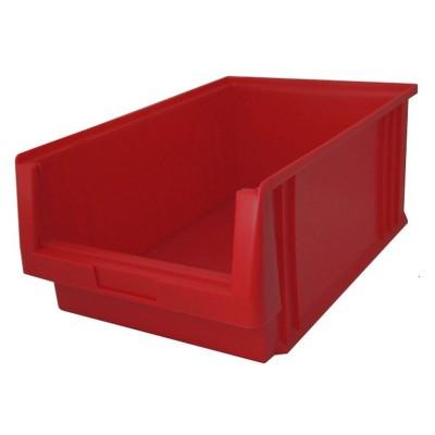 EcoSystem LK 4 Sichtlagerkasten rot für Boxenregal